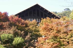 大山崎山荘/宝寺の紅葉特集 ~紅葉に溶け込む山荘の建物|MKタクシー