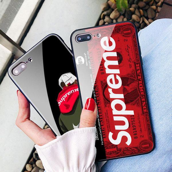 cfa840e05c IPhone Xs/Xr/X ケース Supreme ブランド クリア背面ケース シュプリーム IPhone Xs Maxカバー強化ガラス  SUPREME アイフォンX/8/7 Plusケース ブランド 新品
